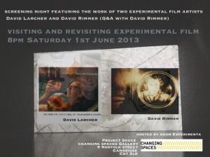 Cambridge video art Screening